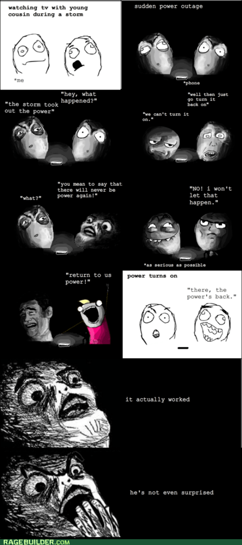 all the things,power outage,Rage Comics,raisin horror,storm
