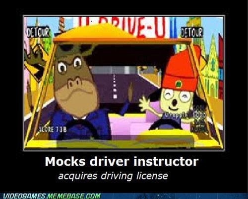 learning to drive,parappa the rapper,playstation,stage 2