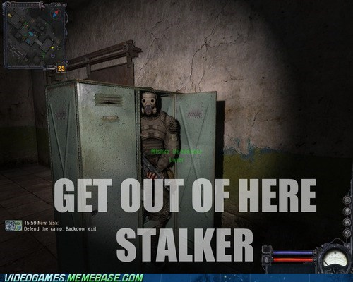 get out of there,locker,PC,stalker