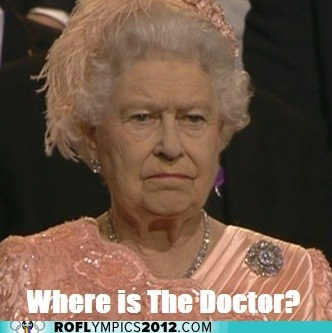 best of the week,disappointed,doctor who,elizabeth ii,liveblog,London 2012,olympics,the doctor,the queen,where