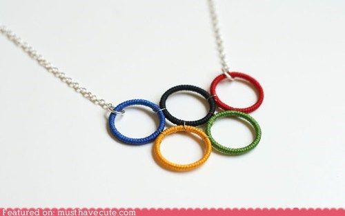 necklace olympics pendant rings - 6462582784