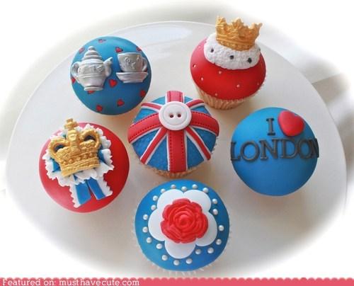 cupcakes epicute fondant London olympics - 6462600960