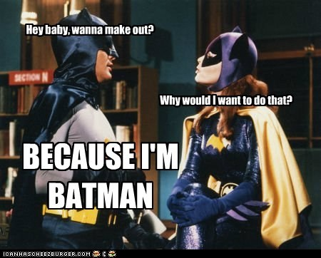 Adam West batgirl batman make out pickup line reasons yvonne craig - 6462616832