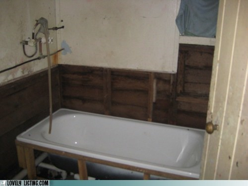 bath bathroom bathtub crappy walls - 6463147776