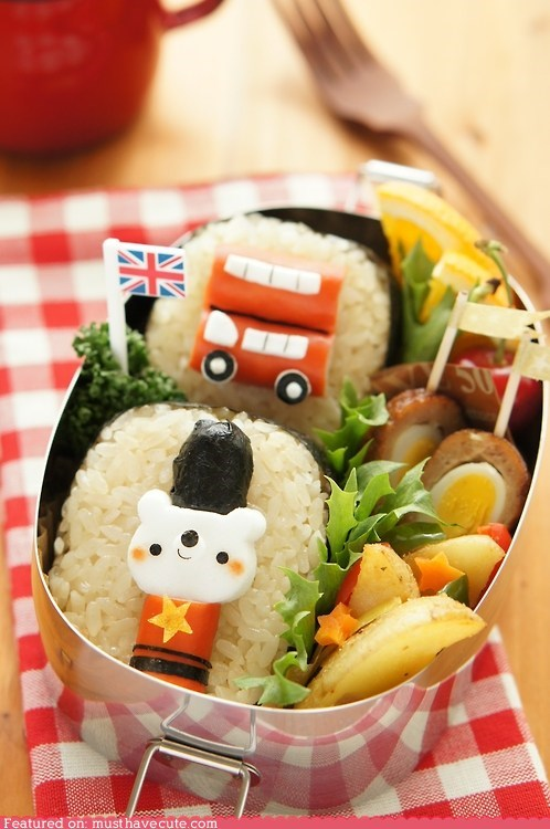 bento British epicute londaon lunch olympics rice - 6463209472