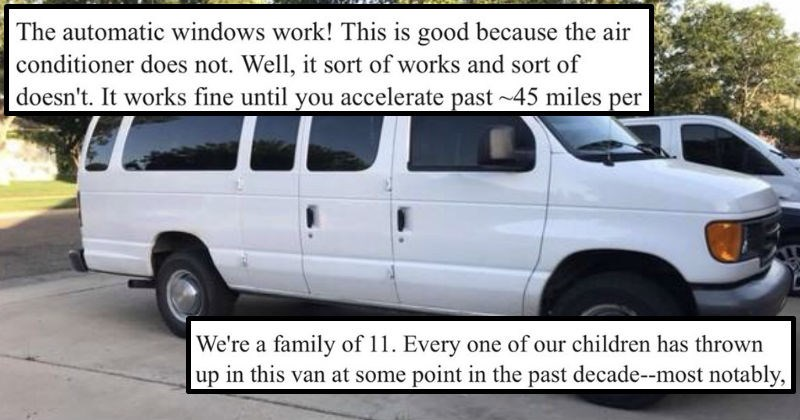 craigslist Ad kids cars van parenting honesty dad funny win selling - 6463237