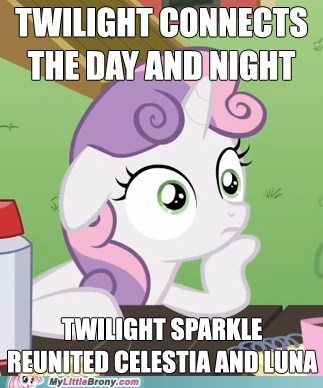 clever girl,meme,sudden realization sweeti,sudden realization sweetie belle,Sweetie Belle