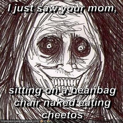 Sensational I Just Saw Your Mom Sitting On A Beanbag Chair Naked Eating Cjindustries Chair Design For Home Cjindustriesco