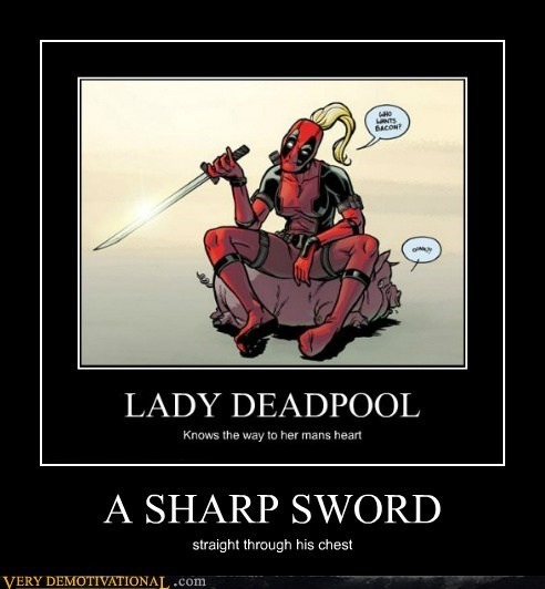 chest deadpool hilarious lady sword
