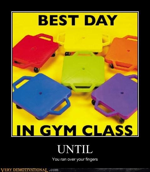fingers gym class hilarious until