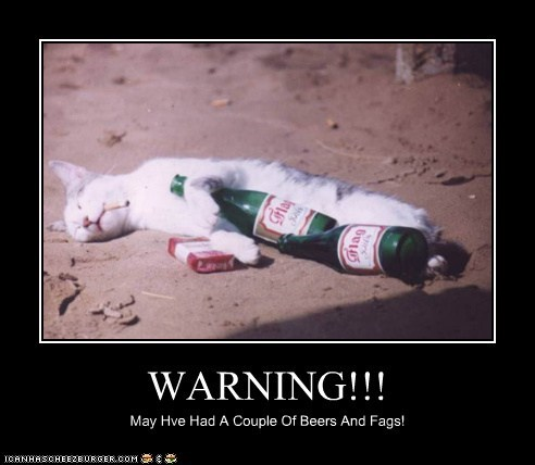 WARNING!!! May Hve Had A Couple Of Beers And Fags!