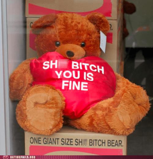 so cute so fine teddy bear you is fine - 6464183040