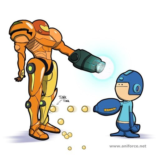 Fan Art,fandom,mega man,samus,video games