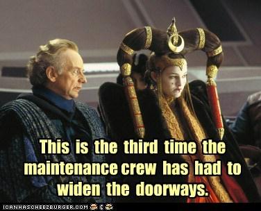 doorways Emperor Palpatine hair Ian McDiarmid maintenance natalie portman padme queen amidala widen - 6465634304