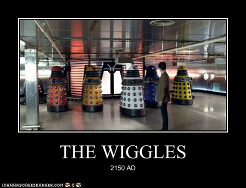 changed colorful daleks doctor who Exterminate Matt Smith rainbow the doctor the wiggles - 6466046208