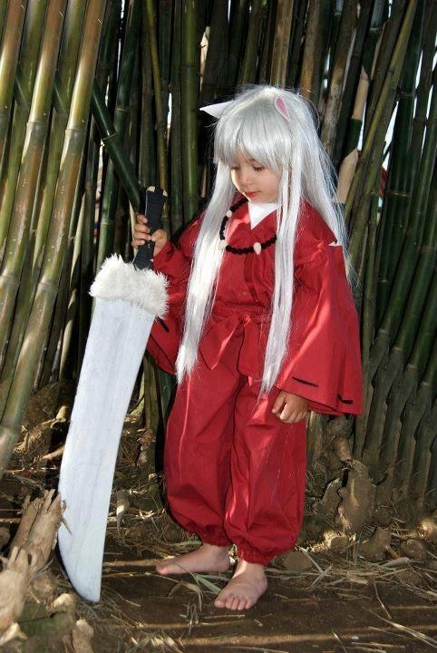 anime cosplay cute inuyasha kids manga - 6466094592