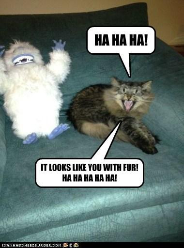 HA HA HA! IT LOOKS LIKE YOU WITH FUR! HA HA HA HA HA!