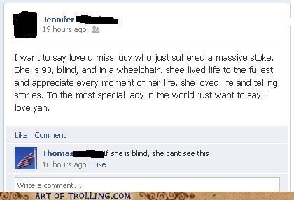blind facebook status stroke - 6466165504