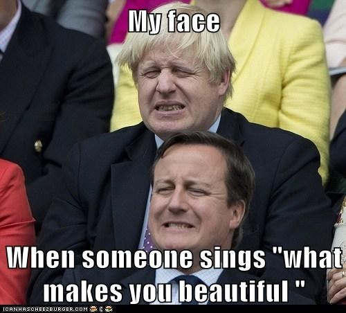 annoying boris johnson cringeworthy david cameron hurts London my face song