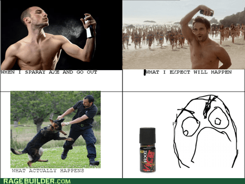 axe body spray expectations Rage Comics
