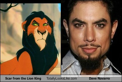 celeb Dave Navarro disney funny Music scar the lion king TLL
