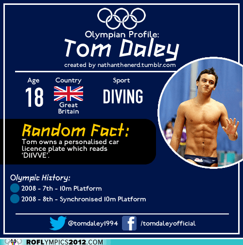 diving,olympian profile,random facts,tom daley