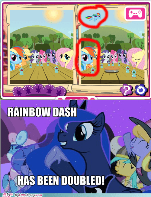 doubled huzzah meme rainbow dash - 6466854400