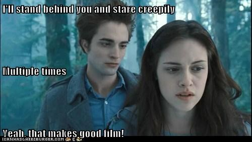 acting bella boring creepily edward cullen film kristen stewart robert pattinson Staring twilight vampire - 6467230464