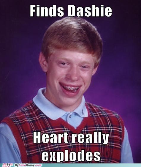 bad luck brian,dashie,heart attack,meme