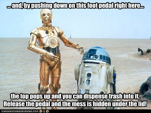 c3p0 droids r2d2 salesman selling point star wars trash can