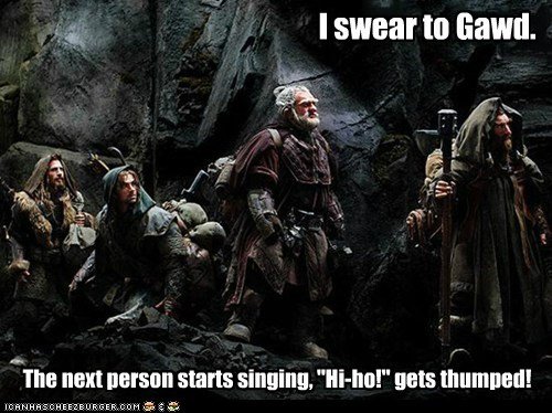 annoyed hi-ho journey singing The Hobbit thump - 6467303936