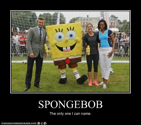 David Beckham Michelle Obama political pictures SpongeBob SquarePants - 6467442944