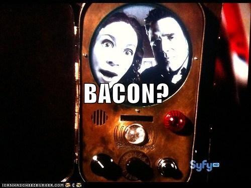 bacon communicator eddie mcclintock joanne kelly myka berring pete lattimer warehouse 13 - 6467683328