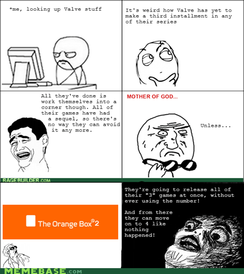 gaben orange box 2 rage comic sequel valve - 6468407808