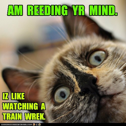 captions,Cats,mind,psychic,reading minds,Trainwreck