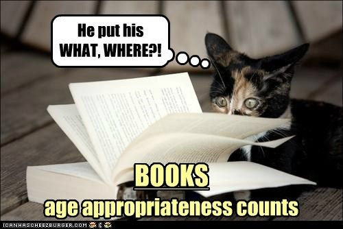 captions Cats inappropriate literature read - 6468978432