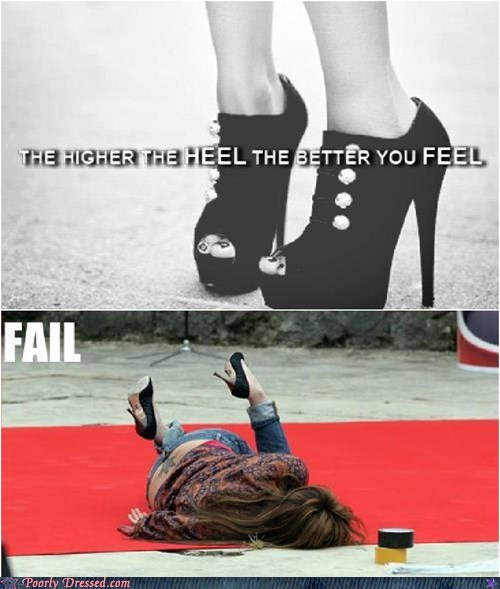 fashion,heels,high heels,trip,whoops