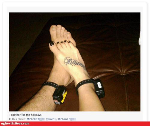 ankle bracelets,foot tattoos,house arrest