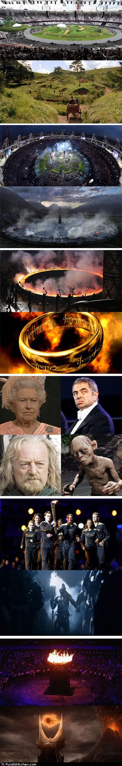 geek London Lord of the Rings olympics political pictures - 6469244672