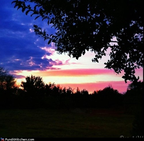 American Flag political pictures sunset - 6469258496