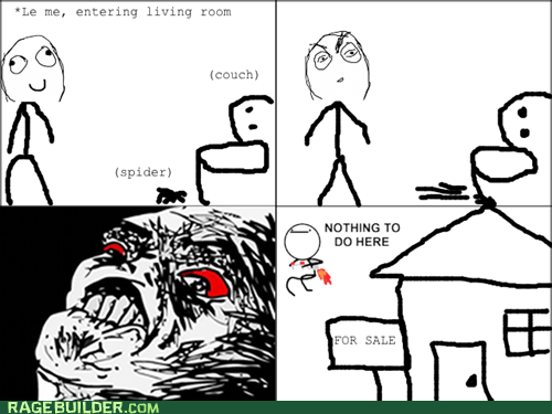 for sale,house,Rage Comics,raisin rage,spiders