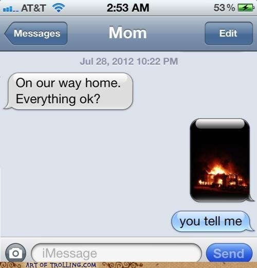 burning house IRL Memes parenting sms - 6469325824