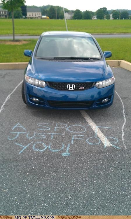 car,chalk,driving,IRL,parking,spot