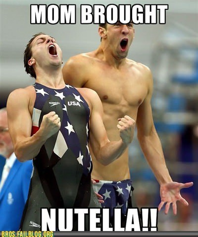 nutella olympics swimming