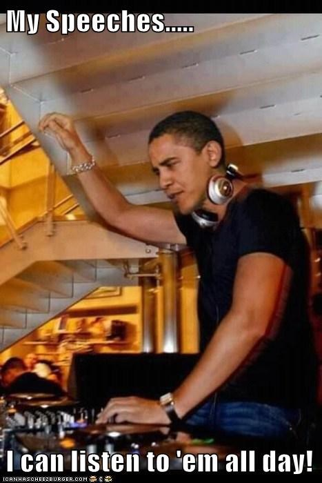 barack obama djing drop the bass dubstep listening narcissism speaches - 6469459456