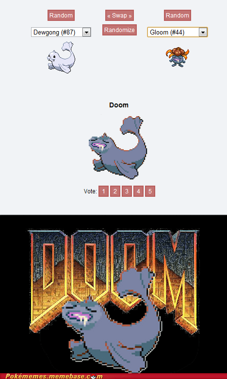 dewgong doom gloom Memes pokemon fusion - 6469552128