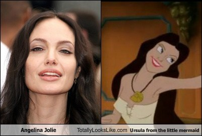 actor Angelina Jolie celeb disney funny Movie The Little Mermaid TLL ursula