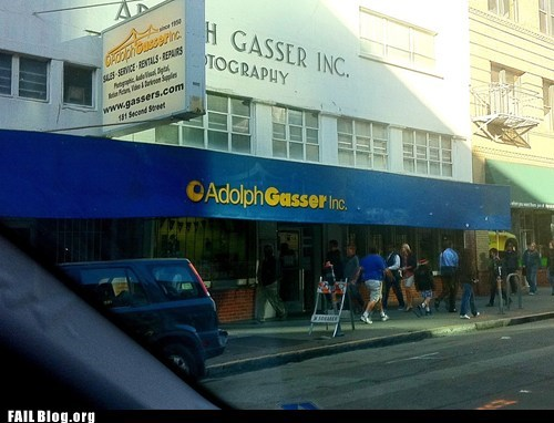 adolph gasser,unfortunate company names