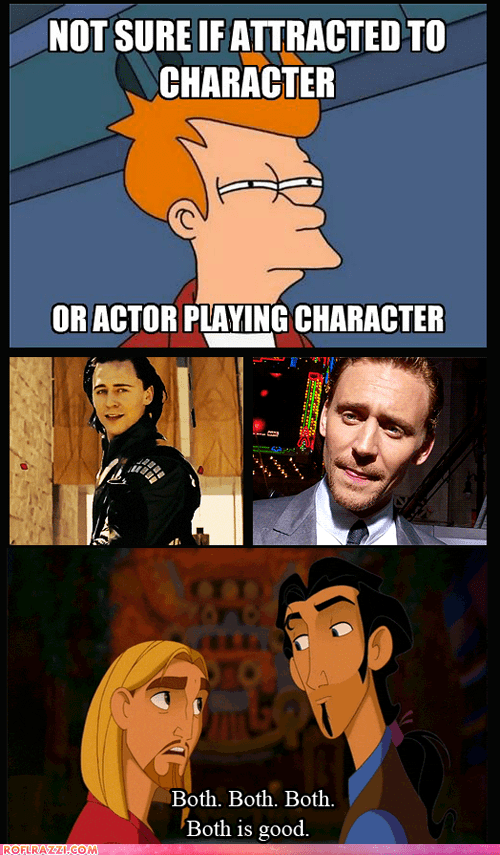 actor,celeb,disney,el dorado,funny,futurama,tom hiddleston