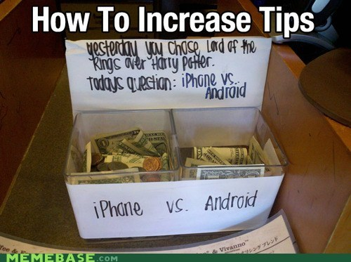 android choice iphone Memes tips - 6469707008